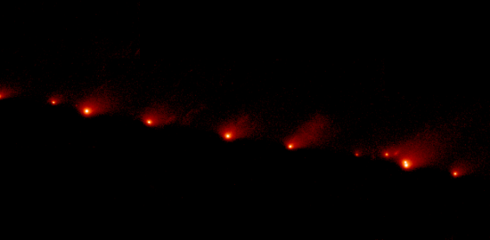 ハッブル宇宙望遠鏡が撮影したシューメーカー・レヴィ第9彗星 wiki