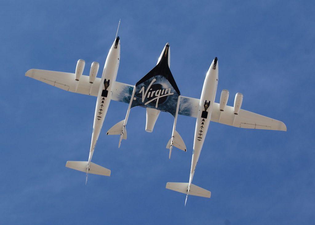 飛行試験中のスペースシップツー(2010年) / wikipedia 引用