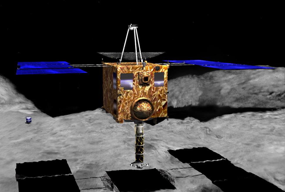 小惑星探査機「はやぶさ」の着陸想像図 wikipedia