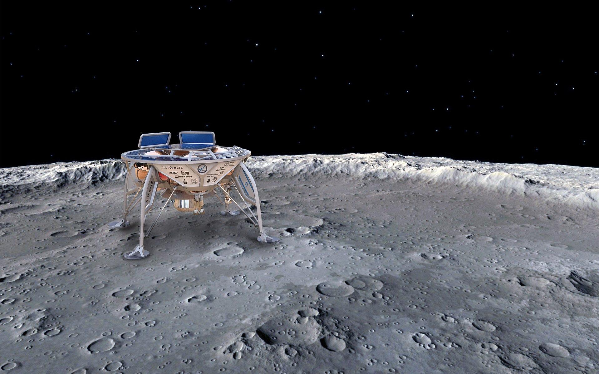 月面に着陸したベレシートの予想図 wikipedia